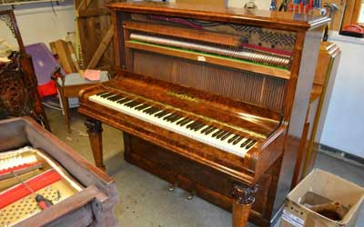 Mary Dicken's (Daughter of the author Charles) piano nearing the end of a full restoration.